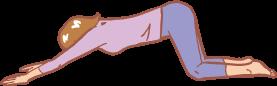 肩と背中のストレッチ